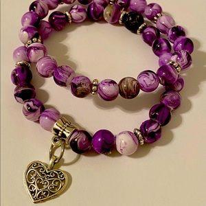 Healing and wellness double beaded bracelets